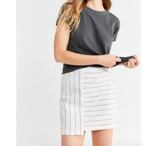 Urban Outfitters Contrast Striped Mini Skirt